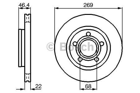 0986478574 BOSCH Тормозной диск на AUDI