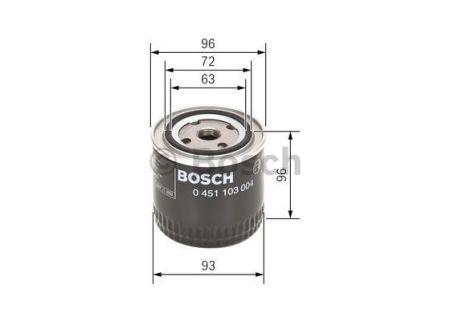 0451103004 BOSCH Масляный фильтр на FIAT