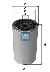 2312100 UFI Масляный фильтр на DAIHATSU