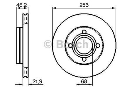 0986478018 BOSCH Тормозной диск на AUDI