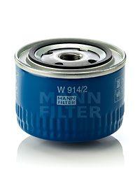 W9142 MANN Масляный фильтр на DACIA