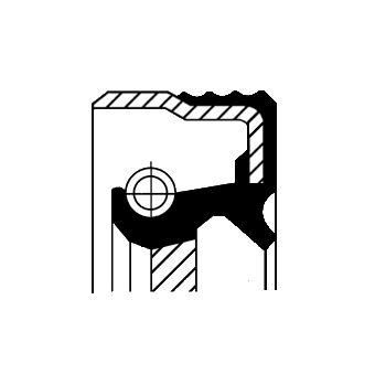 COS12015120 CORTECO Уплотняющее кольцо, коленчатый вал; Уплотняющее кольцо, ступенчатая коробка передач;  на LANCIA