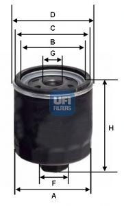 2342800 UFI Масляный фильтр для SKODA OCTAVIA