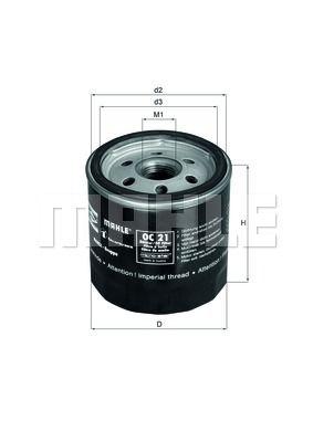 OC21OF KNECHT Масляный фильтр на LDV