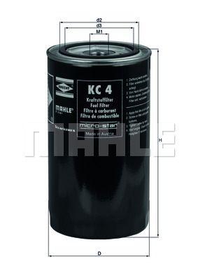 KNECHT KC4 Топливный фильтр купить недорого