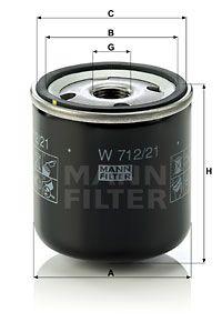MFW71221 MANN Масляный фильтр для CHERY KIMO