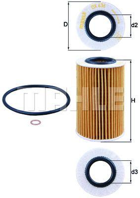 OX436D KNECHT Масляный фильтр для HYUNDAI SONATA