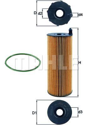 OX1963D KNECHT Масляный фильтр для AUDI Q7