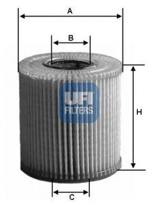 2507700 UFI Масляный фильтр на LEXUS