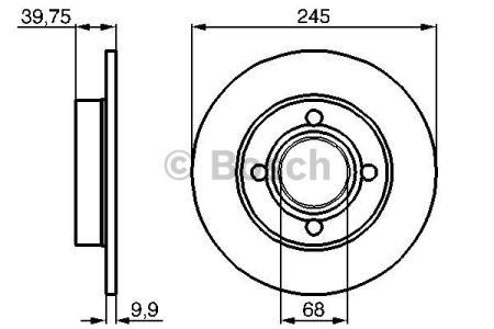 0986478216 BOSCH Тормозной диск на AUDI