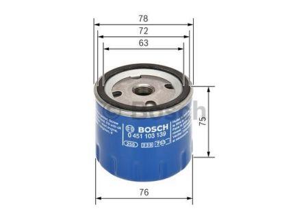 0451103139 BOSCH Масляный фильтр на PEUGEOT