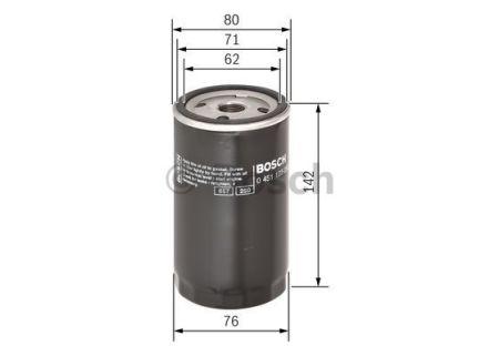 0451103092 BOSCH Масляный фильтр для FORD FIESTA