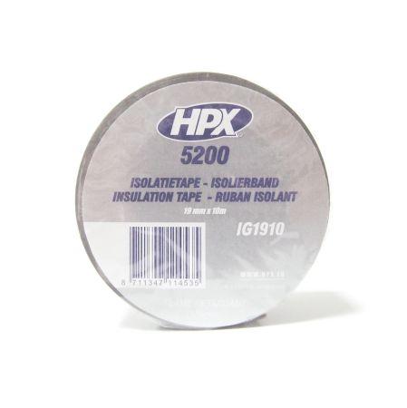 HPX HPXIG1910 Лента ПВХ изоляционная 19х10мм серая Купить недорого