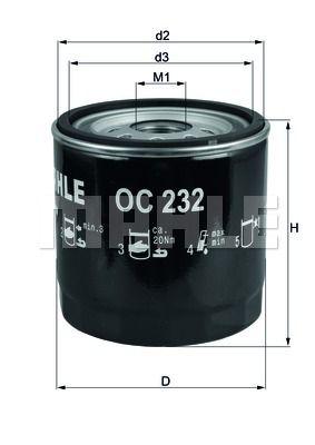 OC232 KNECHT Масляный фильтр на LDV