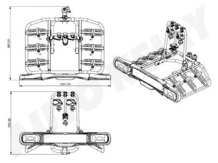 CARFACE DOCF105923EF CarFace Крепление для 3-х велосипедов на фаркоп, замок заказать по низкой цене