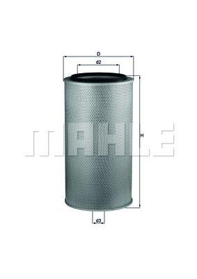 KNECHT LX1255 Воздушный фильтр Купить недорого