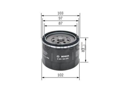 0451103270 BOSCH Масляный фильтр для MAZDA 323