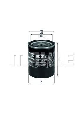 OC217 KNECHT Масляный фильтр на LEXUS