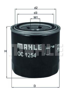 OC1254 KNECHT Масляный фильтр для HYUNDAI VELOSTER