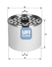 2436000 UFI Топливный фильтр на DAEWOO