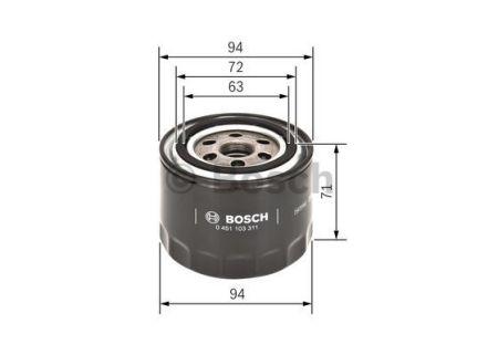 0451103311 BOSCH Масляный фильтр для HONDA CIVIC