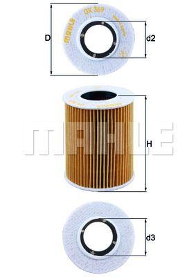 OX369D KNECHT Масляный фильтр для HYUNDAI GETZ