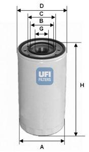 2331300 UFI Масляный фильтр для TOYOTA CAMRY