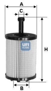2502300 UFI Масляный фильтр для SKODA FABIA