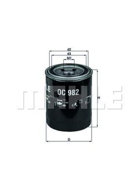 OC982 KNECHT Масляный фильтр для SUBARU FORESTER