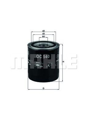 OC540 KNECHT Масляный фильтр для HYUNDAI TERRACAN