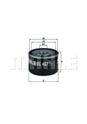 OC467 KNECHT Масляный фильтр для RENAULT LOGAN