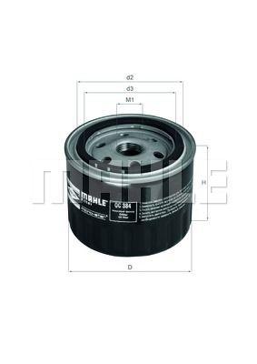 OC384 KNECHT Масляный фильтр на DACIA