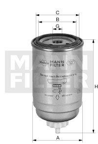 MANN WK7162X Топливный фильтр купить недорого