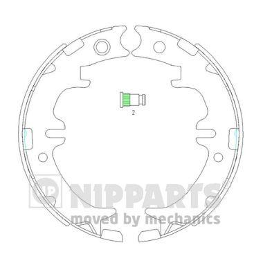 NIPPARTS N3502083 Тормозные колодки, к-кт. купить недорого