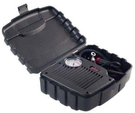 CARFACE DOCFAC9015 Компрессор с манометром ( в футляре) 250 psi/18 bar/3m Кабель / 50cm Шланг Купить недорого