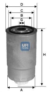 2435101 UFI Топливный фильтр для OPEL VECTRA