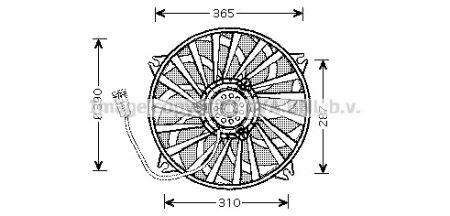 NRF ACN7540 CN Xsara 1.4 i  09/00- Вентилятор купить недорого