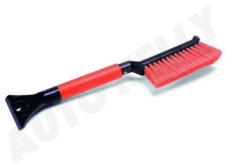 CARFACE DOCFAT700108 Пластиковый скребок с щеткой и ручкой из пены , длина 43 см, ширина 88 мм Купить недорого