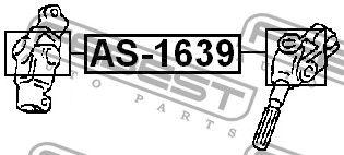 FEBEST FEAS1639 КРЕСТОВИНА РУЛЕВАЯ 16x39 (HONDA ACCORD CL/CN/CM 2002-2008) FEBEST купить недорого
