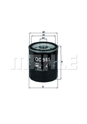 OC981 KNECHT Масляный фильтр для SKODA RAPID