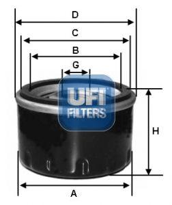 2357500 UFI Масляный фильтр для SKODA SCALA