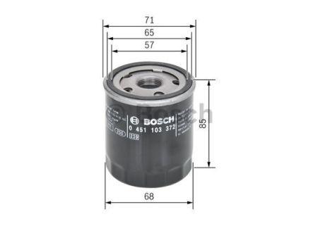 0451103372 BOSCH Масляный фильтр на MITSUBISHI