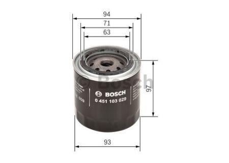 0451103029 BOSCH Масляный фильтр на NISSAN
