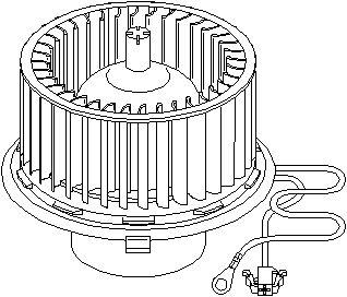 ELIT JL50608 VW-GOLF III/Внутренный вентилятор  заказать по низкой цене