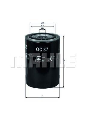 OC37 KNECHT Масляный фильтр на GAZ