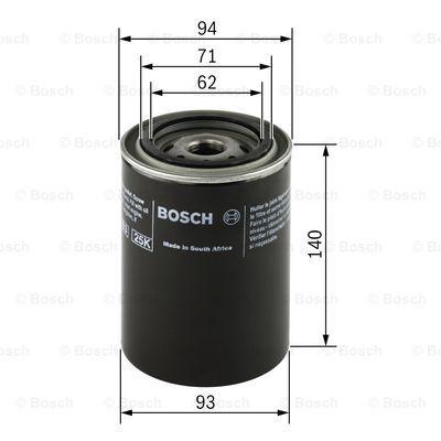 0451103346 BOSCH Масляный фильтр для VW PASSAT