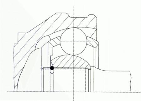 SPIDAN 0020639 Шарнир приводного вала (ШРУС), к-кт. купить недорого