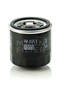 MFW671 MANN Масляный фильтр для SUBARU FORESTER