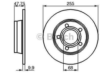 0986478480 BOSCH Тормозной диск на AUDI
