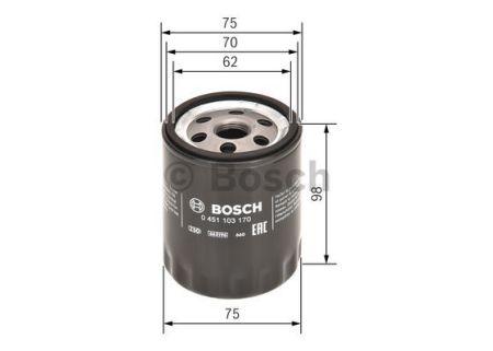 0451103170 BOSCH Масляный фильтр на FIAT